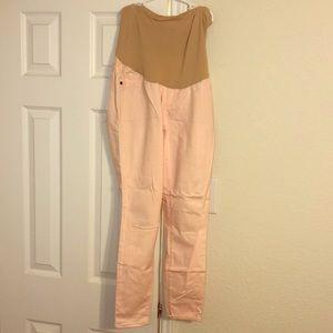 Soft pink maternity pants